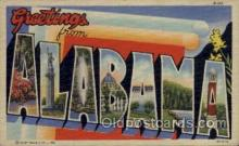 LLS001548 - Alabama Large Letter State States Post Cards Postcards