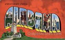 LLS001549 - Alabama Large Letter State States Post Cards Postcards