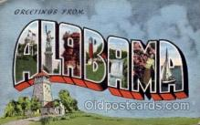 LLS001550 - Alabama Large Letter State States Post Cards Postcards