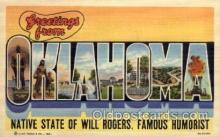 LLS001556 - Oklahoma Large Letter State States Post Cards Postcards