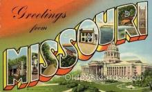 LLS001558 - Missouri Large Letter State States Post Cards Postcards