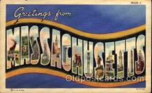 LLS001560 - Massachusetts Large Letter State States Post Cards Postcards