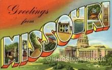 LLS001564 - Missouri Large Letter State States Post Cards Postcards