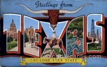 LLS001565 - Texas Large Letter State States Post Cards Postcards
