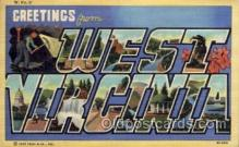 LLS001567 - West Virginia Large Letter State States Post Cards Postcards