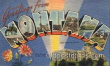 LLS001568 - Montana Large Letter State States Post Cards Postcards