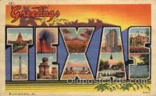 LLS001569 - Texas Large Letter State States Post Cards Postcards