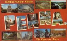 LLS001574 - Pennsylvania Large Letter State States Post Cards Postcards