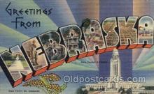LLS001581 - Nebraska Large Letter State States Post Cards Postcards