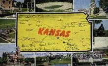 LLS001585 - Kansas Large Letter State States Post Cards Postcards
