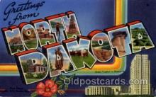 LLS001589 - North Dakota Large Letter State States Post Cards Postcards