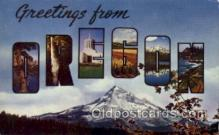 LLS001592 - Oregon Large Letter State States Post Cards Postcards