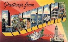 LLS001599 - Louisiana Large Letter State States Post Cards Postcards