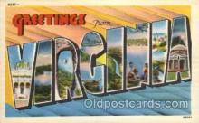 LLS001600 - Virginia Large Letter State States Post Cards Postcards