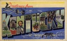 LLS001609 - Kentucky Large Letter State States Post Cards Postcards