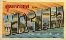 LLS001611 - Virginia Large Letter State States Post Cards Postcards