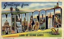LLS001614 - Minnesota Large Letter State States Post Cards Postcards