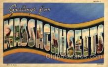 LLS001620 - Massachusetts Large Letter State States Post Cards Postcards