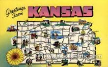 LLS001622 - Kansas Large Letter State States Post Cards Postcards