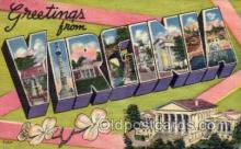 LLS001623 - Virginia Large Letter State States Post Cards Postcards
