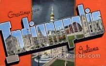 LLS001624 - Indianapolis, Indiana Large Letter State States Post Cards Postcards