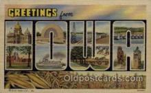 LLS001626 - Iowa Large Letter State States Post Cards Postcards