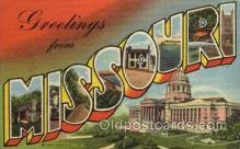 LLS001627 - Missouri Large Letter State States Post Cards Postcards