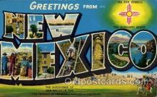 LLS001631 - New Mexico Large Letter State States Post Cards Postcards