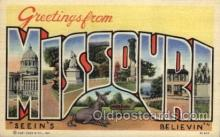 LLS001634 - Missouri Large Letter State States Post Cards Postcards