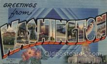 LLS001635 - Washington Large Letter State States Post Cards Postcards