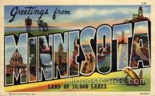 LLS001636 - Minnesota Large Letter State States Post Cards Postcards
