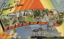 LLS001638 - Arkansas Large Letter State States Post Cards Postcards