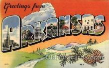 LLS001640 - Arkansas Large Letter State States Post Cards Postcards