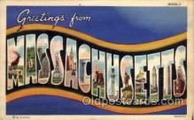 LLS001645 - Massachusetts Large Letter State States Post Cards Postcards