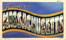 LLS001646 - Massachusetts Large Letter State States Post Cards Postcards