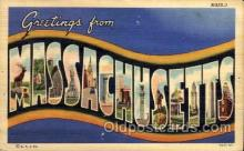LLS001647 - Massachusetts Large Letter State States Post Cards Postcards