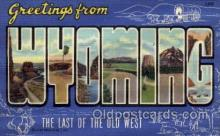 LLS001648 - Wyoming Large Letter State States Post Cards Postcards