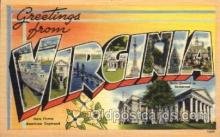 LLS001650 - Virginia Large Letter State States Post Cards Postcards