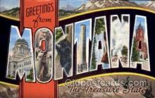 LLS001652 - Montana Large Letter State States Post Cards Postcards