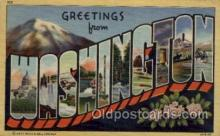 LLS001654 - Washington Large Letter State States Post Cards Postcards