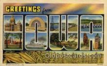 LLS001657 - Iowa Large Letter State States Post Cards Postcards