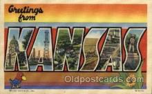 LLS001666 - Kansas Large Letter State States Post Cards Postcards