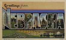 LLS001667 - Nebraska Large Letter State States Post Cards Postcards