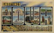 LLS001672 - Iowa Large Letter State States Post Cards Postcards