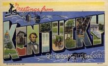 LLS001673 - Kentucky Large Letter State States Post Cards Postcards
