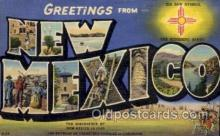 LLS001679 - New Mexico Large Letter State States Post Cards Postcards