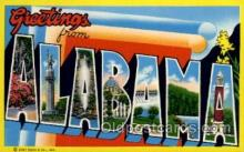 LLS001683 - Alabama Large Letter State States Post Cards Postcards