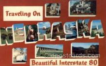 LLS001685 - Interstate 80, Nebraska Large Letter State States Post Cards Postcards