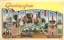 LLS001687 - Missouri Large Letter State States Post Cards Postcards