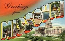LLS001688 - Missouri Large Letter State States Post Cards Postcards
